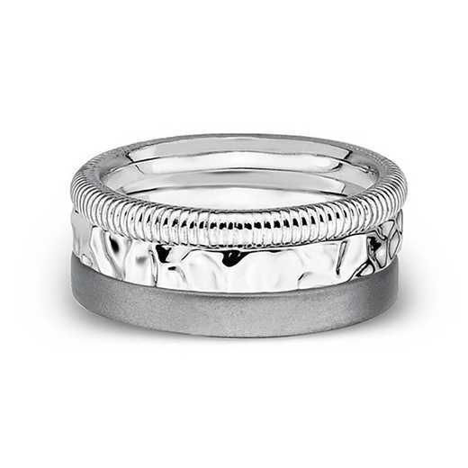 Sterling Silver Stackable Faith Hope Love Ring Set