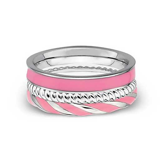 SS Stackable Expressions Pretty in Pink Ring ST