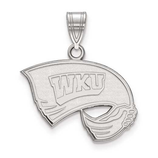 SS003WKU: SS LogoArt Western Kentucky University Medium PEND