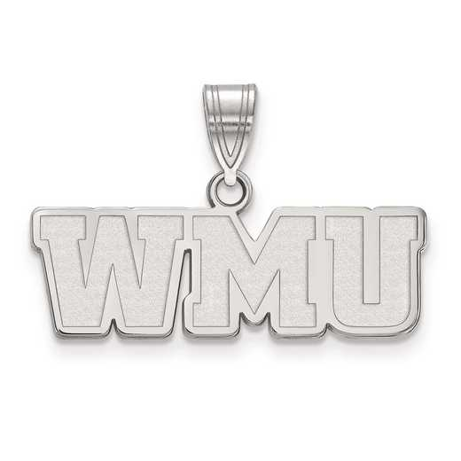 SS018WMU: SS LogoArt Western Michigan University Medium PEND