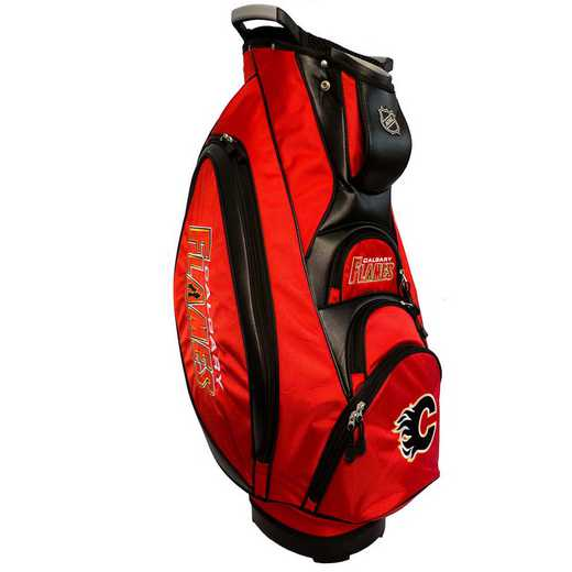 13373: Victory Golf Cart Bag Calgary Flames