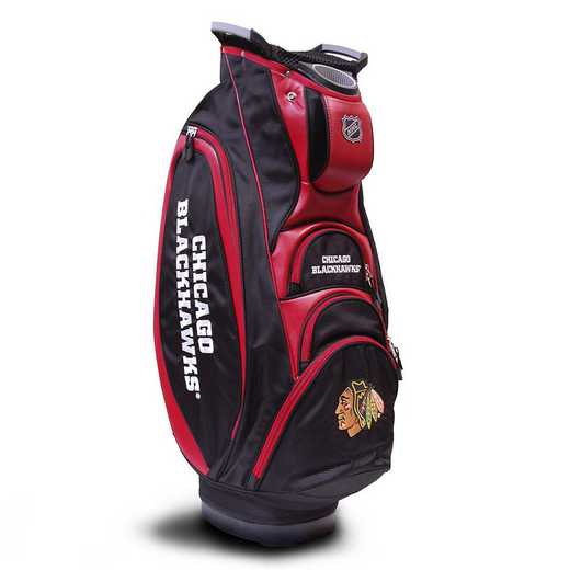 13573: Victory Golf Cart Bag Chicago Blackhawks