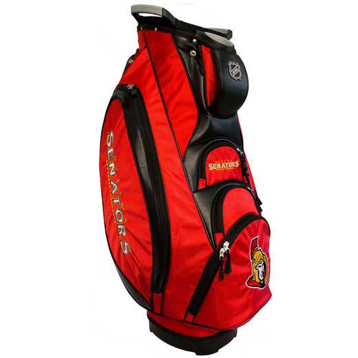 14973: Victory Golf Cart Bag Ottawa Senators