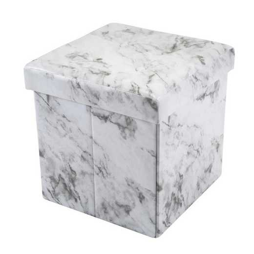 F-0660-MARBLE: Collapsible Ottoman-Marble