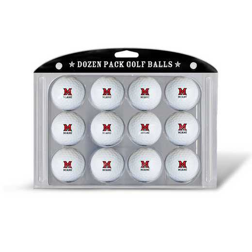 47703: Golf Balls, 12 Pack Miami Of Ohio