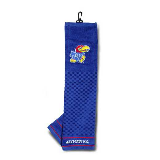 21710: Embroidered Golf Towel Kansas Jayhawks