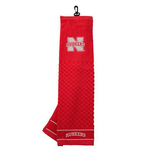 22410: Embroidered Golf Towel Nebraska Cornhuskers