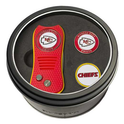 31459: Tin GftSt Swtchfix 2BallMkrs Kansas City Chiefs