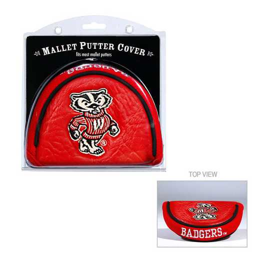 23931: Golf Mallet Putter Cover Wisconsin Badgers