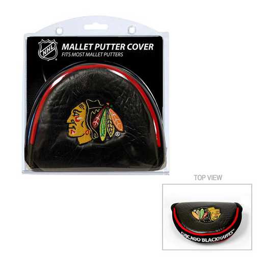 13531: Golf Mallet Putter Cover Chicago Blackhawks