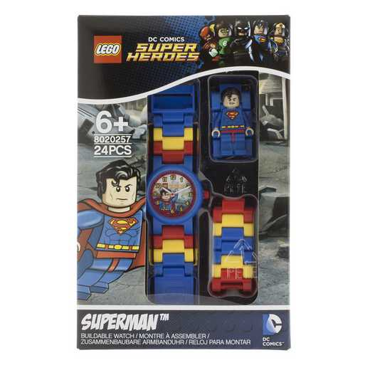 LEGO-8020257: LEGO DC Universe Super Heroes Superman Minifigure Link Watch