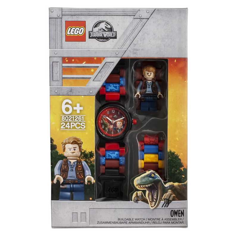 LEGO-8021261: Jurassic World Owen Minifigure Kid's Watch