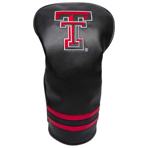 25111: Vintage Driver Head Cover Texas Tech Red Raiders