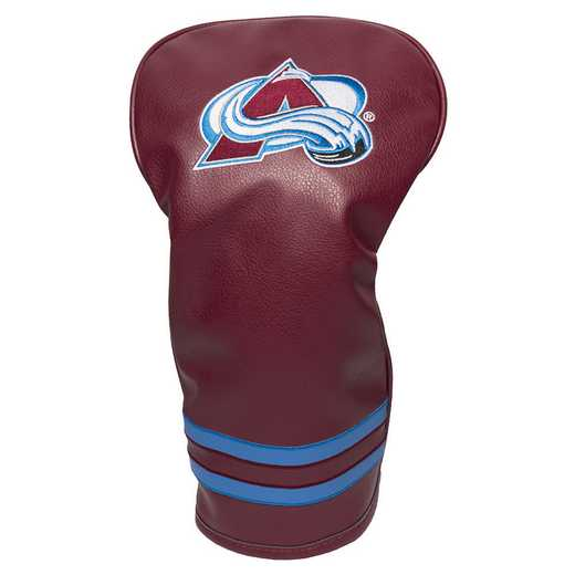 13611: Vintage Driver Head Cover Colorado Avalanche