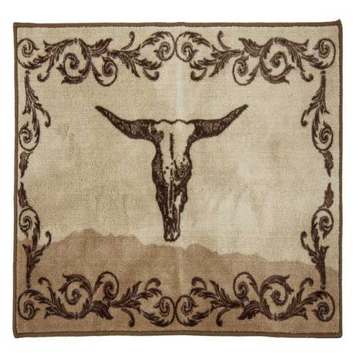 BW1762-TT-OC: HEA Scroll with Skull Rug , 24x36