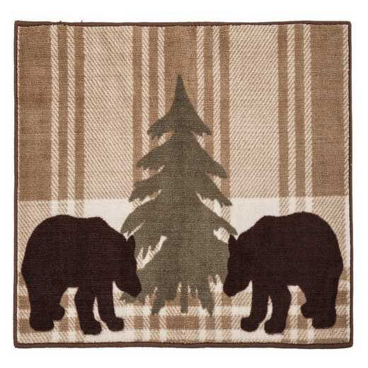BL1812: HEA Bear Plaid Rug, 24x36