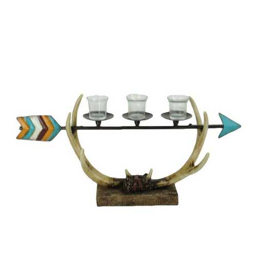 WD3006: HEA Longhorn/Arrow/Antler 3-Candle Holder