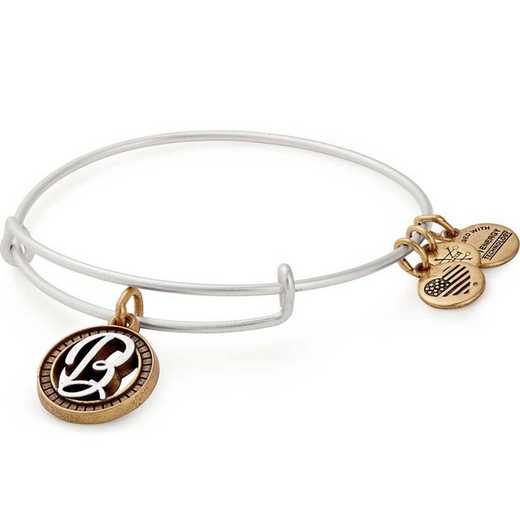 A18EBINT02TTRS: Initial B Two Tone Charm Bangle