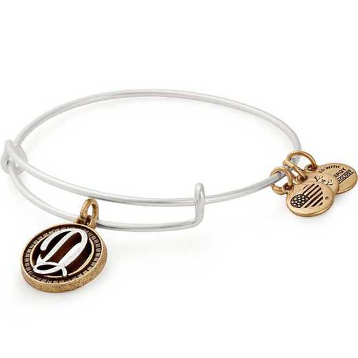 A18EBINT04TTRS: Initial D Two Tone Charm Bangle