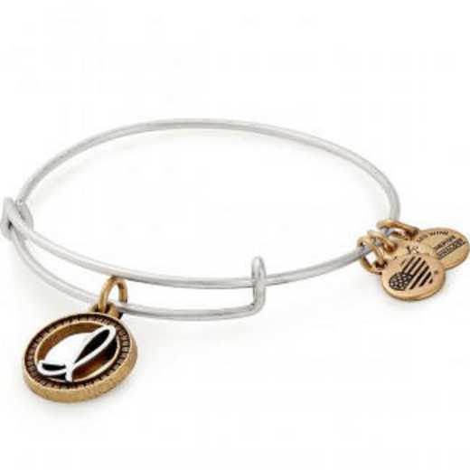 A18EBINT09TTRS: Initial I Two Tone Charm Bangle