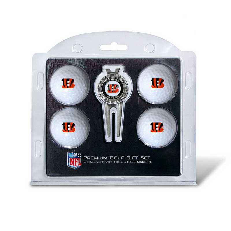 30606: 4 Golf Ball And Divot Tool Set Cincinnati Bengals