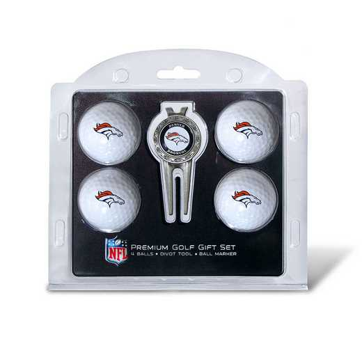 30806: 4 Golf Ball And Divot Tool Set Denver Broncos