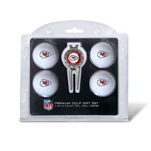 31406: 4 Golf Ball And Divot Tool Set Kansas City Chiefs