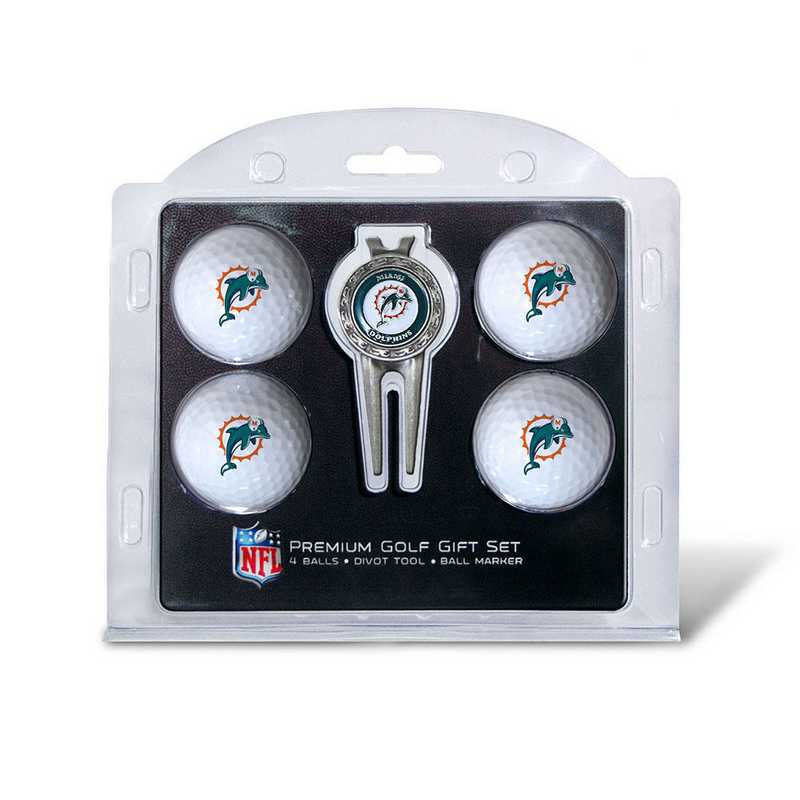 31506: 4 Golf Ball And Divot Tool Set Miami Dolphins