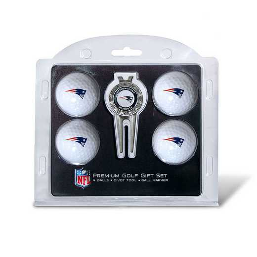 31706: 4 Golf Ball And Divot Tool Set New England Patriots