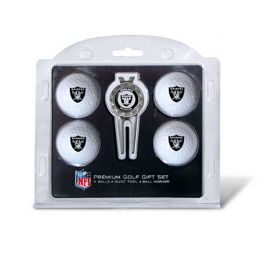 32106: 4 Golf Ball And Divot Tool Set Oakland Raiders