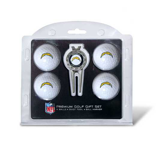 32606: 4 Golf Ball And Divot Tool Set San Diego Chargers