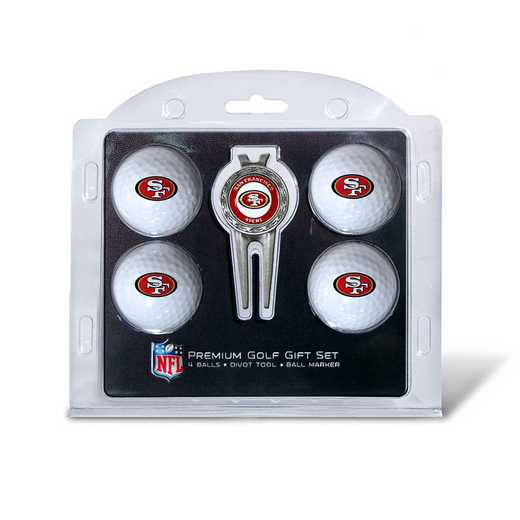 32706: 4 Golf Ball And Divot Tool Set San Francisco 49ers