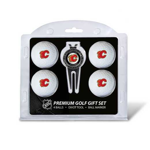13306: 4 Golf Ball And Divot Tool Set Calgary Flames