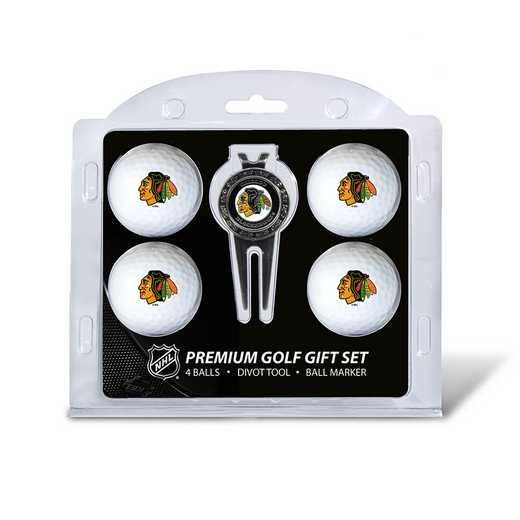 13506: 4 Golf Ball And Divot Tool Set Chicago Blackhawks
