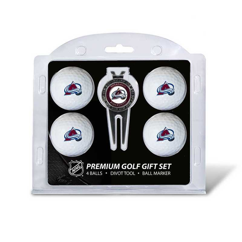 13606: 4 Golf Ball And Divot Tool Set Colorado Avalanche
