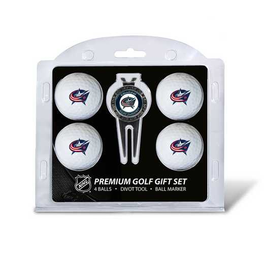 13706: 4 Golf Ball And Divot Tool Set Columbus Blue Jackets