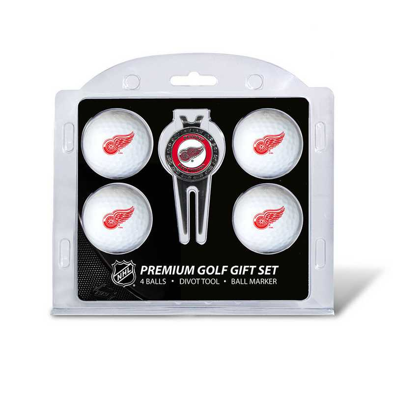 13906: 4 Golf Ball And Divot Tool Set Detroit Red Wings