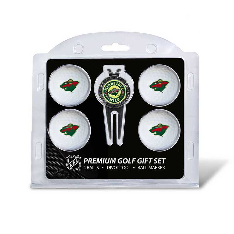 14306: 4 Golf Ball And Divot Tool Set Minnesota Wild