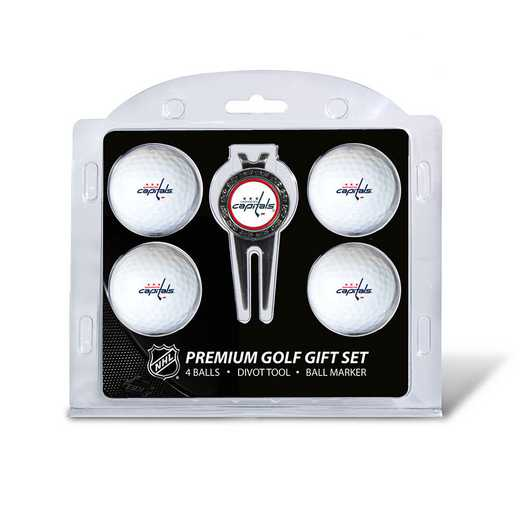 15806: 4 Golf Ball And Divot Tool Set Washington Capitals