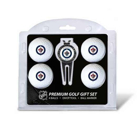 15906: 4 Golf Ball And Divot Tool Set Winnipeg Jets