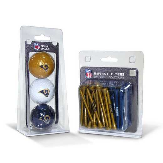 32599: 3 Golf Balls And 50 Golf Tees Los Angeles Rams