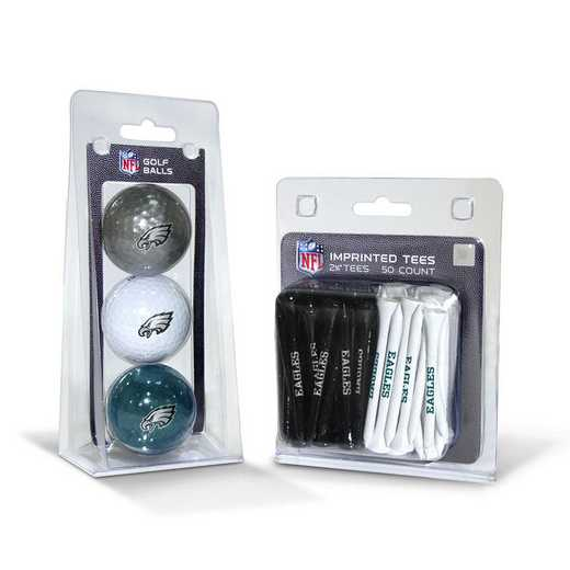 32299: 3 Golf Balls And 50 Golf Tees Philadelphia Eagles