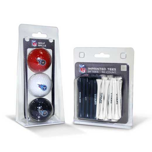 33099: 3 Golf Balls And 50 Golf Tees Tennessee Titans