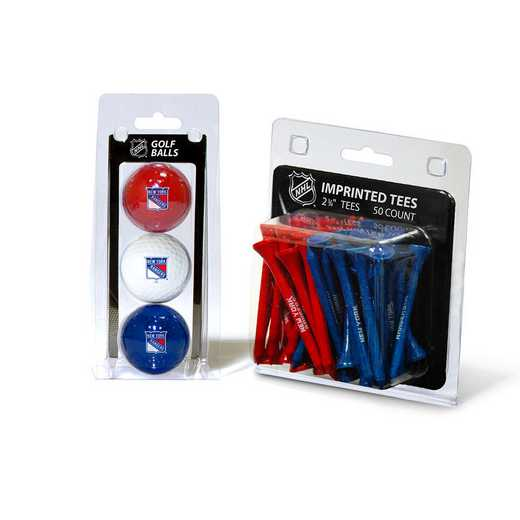 14899: 3 Golf Balls And 50 Golf Tees New York Rangers
