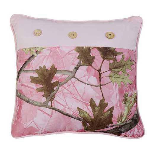 CM1002P1: HEA Oak Camo Pillow - 17x17 Pink
