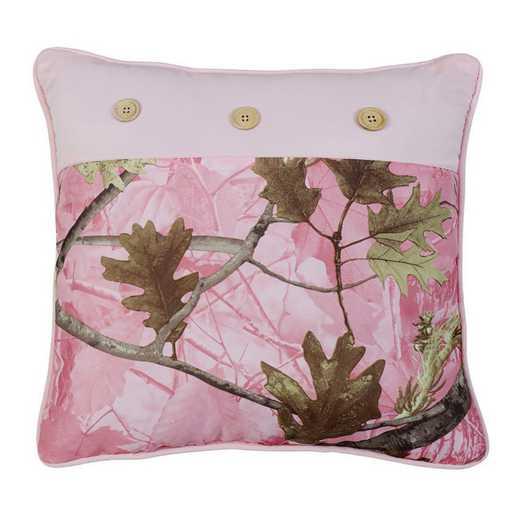 CM1002P1: HEA Oak Camo Pillow, 17x17 Pink