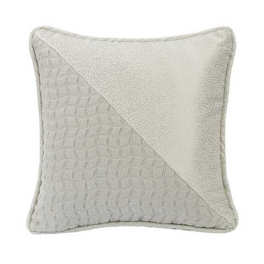 FB1615P2: HEA Half and half decorative pillow - 16x16