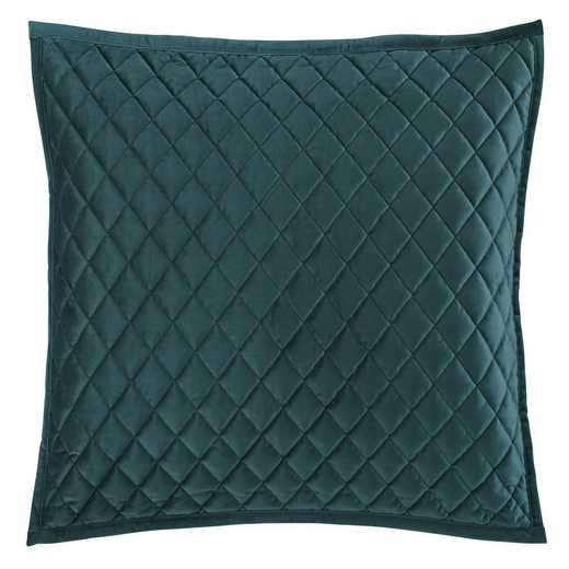 FB6300PS-KS-TL: HEA Quilted Velvet King Pillow Sham - Teal