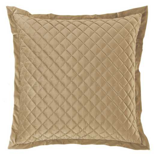 FB6300ES-OS-OM: HEA Quilted Velvet Euro Sham, Oatmeal
