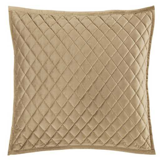 FB6300PS-KS-OM: HEA Quilted Velvet King Pillow Sham - Oatmeal